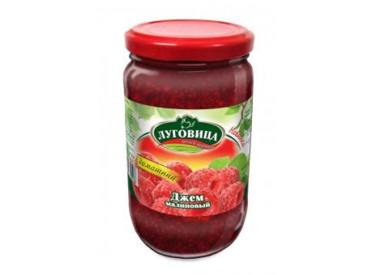 Джем малина ЛУГОВИЦА 430 гр стекло
