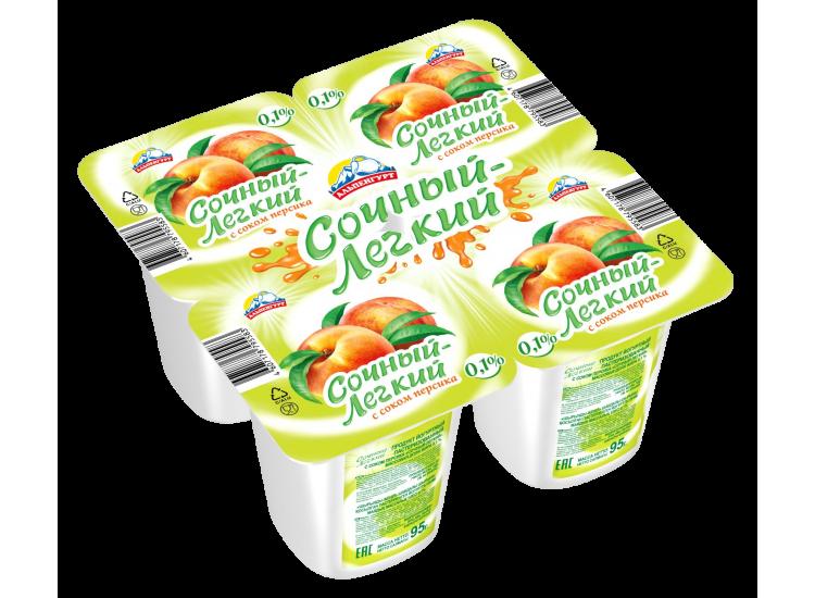Йогуртовый продукт АЛЬПЕНГУРТ персик, 95гр
