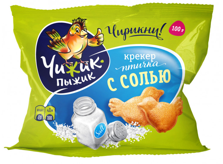 Крекер Чижик-Пыжик с солью, 100 гр.