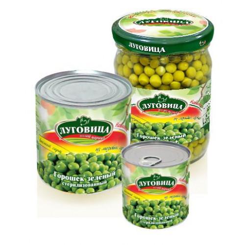 Горошек зеленый ЛУГОВИЦА 425 гр