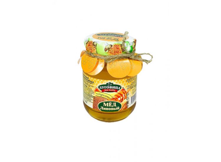 Мед липовый натуральный ЛУГОВИЦА 350 гр