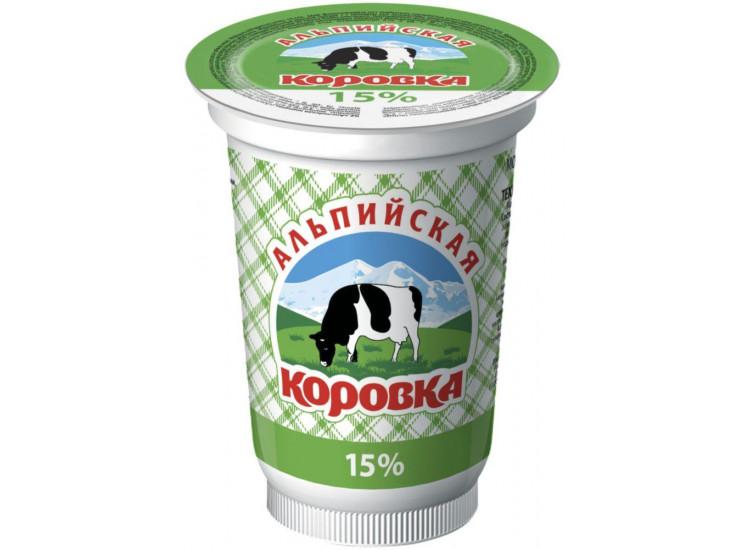 Сметанный продукт Альпийская коровка 15%