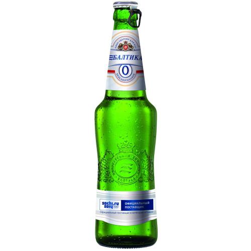 Пиво Балтика №0 светлое безалкогольное 0,5% 0.47 л, стекло