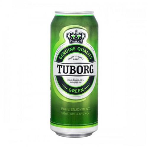 Пиво Tuborg green светлое пастеризованное 4.6% 0.45 л