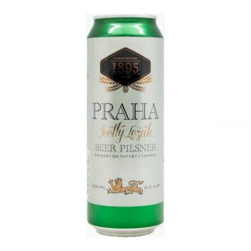 Пиво Прага Светлый Лежак Бир Пильснер ж/б, 0.5 л
