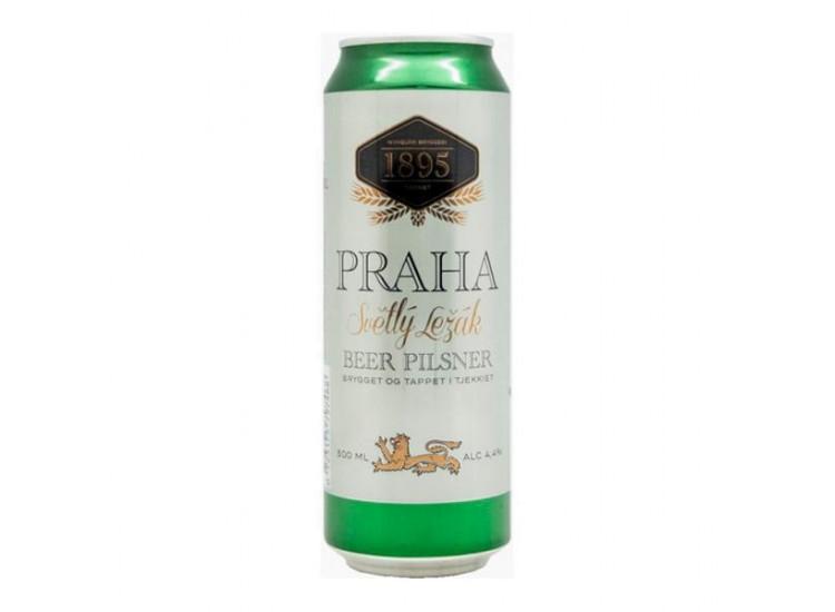 Пиво Прага Светлый Лежак Бир Пильснер ж/б, 500 мл