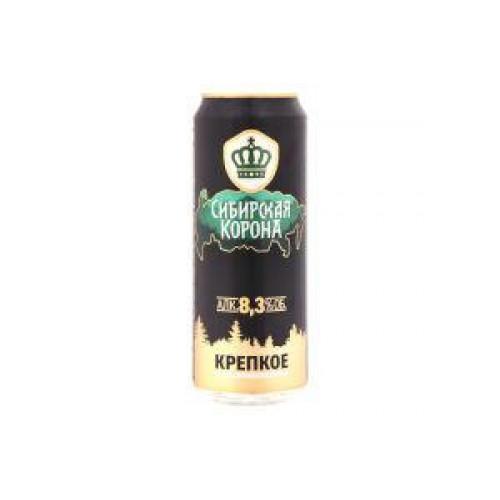 Пиво Сибирская корона Крепкое светлое пастеризованное 8,3% 450 мл