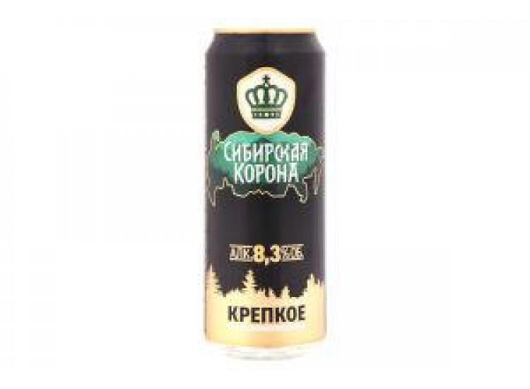 Пиво Сибирская корона Крепкое светлое пастеризованное 8,3%