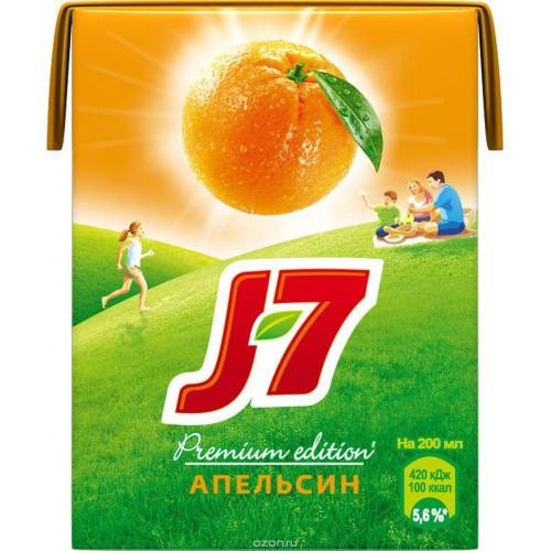Сок Апельсин с мякотью J7 0,2