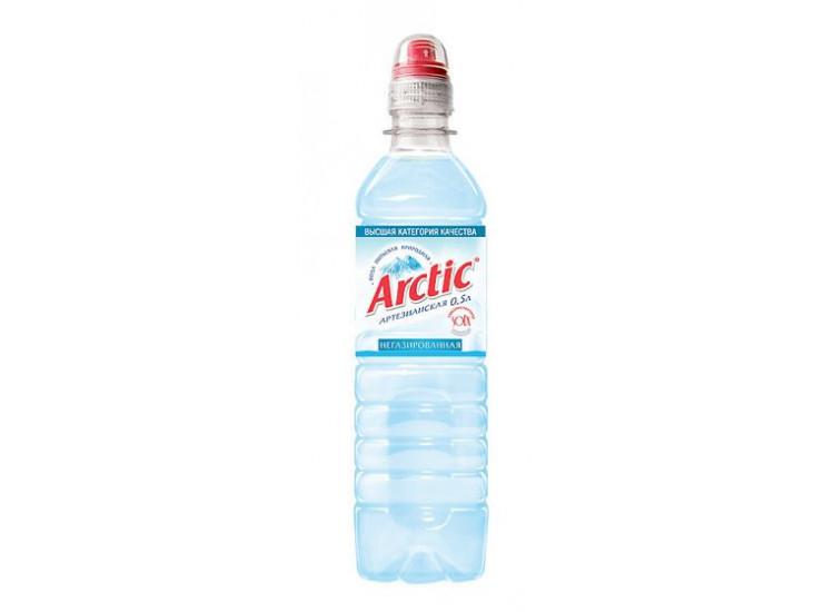 Вода питьевая Арктик (ARCTIC) негазированная с пробкой Sports-Loсk ПЭТ 0,5л