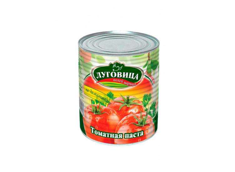 Томатная паста ЛУГОВИЦА 380 гр ж/б