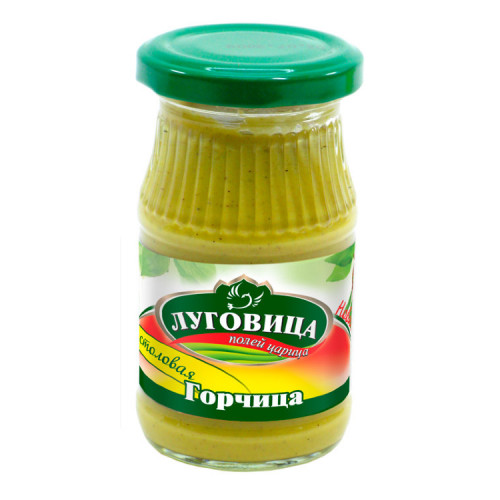 Горчица русская ЛУГОВИЦА 170 гр стекло