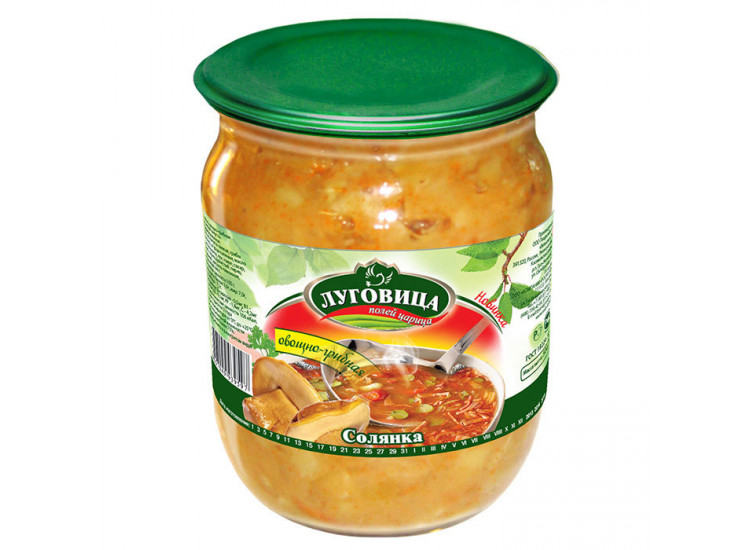 Солянка овощная ЛУГОВИЦА 0,5л стекло