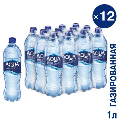 Вода газированная питьевая Aqua Minerale 1 л