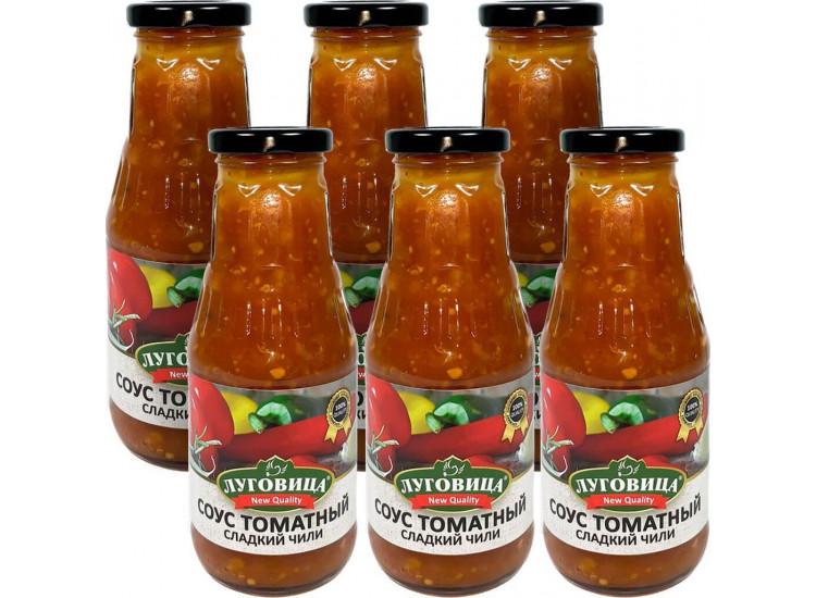 Соус томатный сладкий чили ЛУГОВИЦА 330 гр стекло