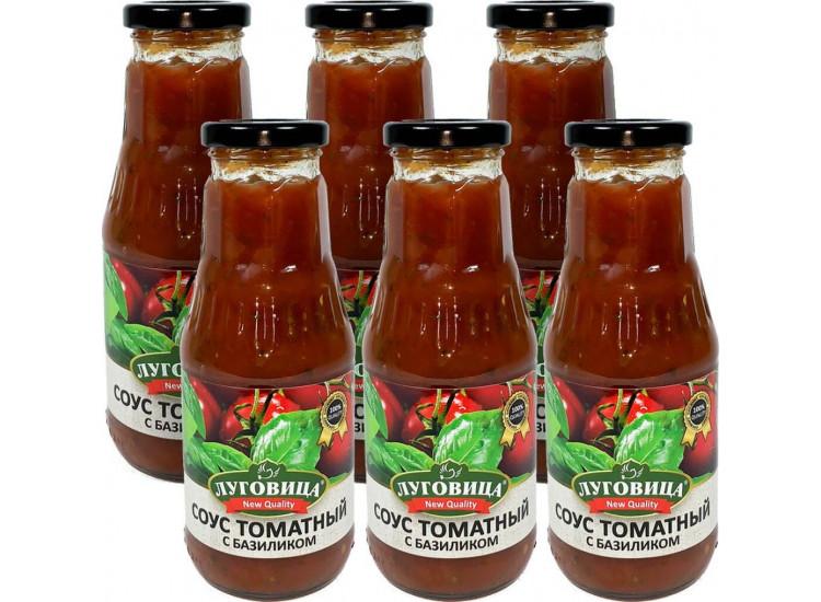 Соус томатный с базиликом  ЛУГОВИЦА 330 гр