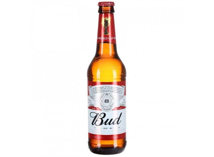 Пиво Bud светлое в стекле 5%, 470мл