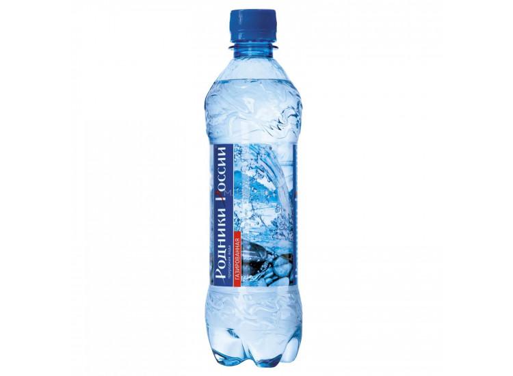 Вода газированная Родники России 0,5 л