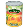 Персики в сиропе половинки ЛУГОВИЦА 820гр ж/б