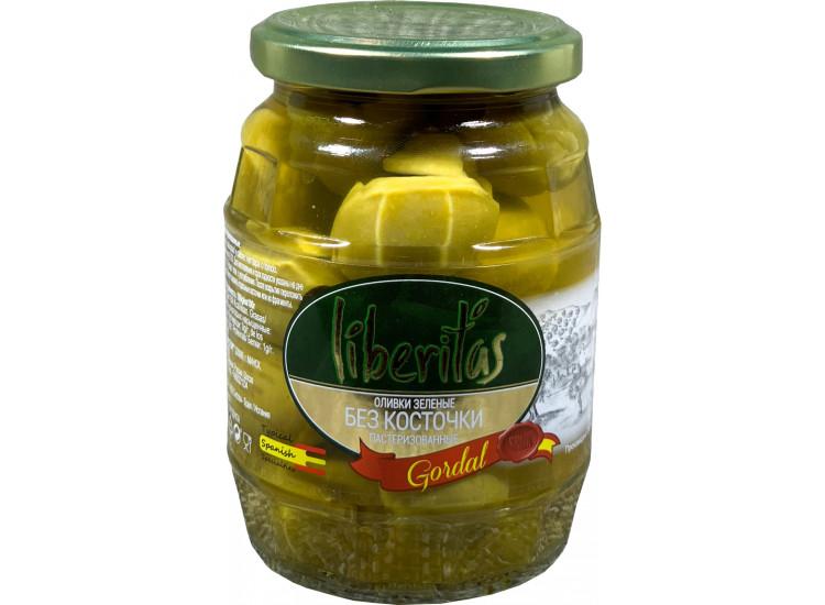 Оливки ЛИБЕРИТАС Liberitas Goldal зеленые без косточки 360 гр стекло