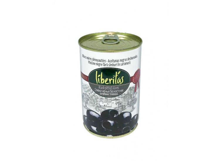 Оливки ЛИБЕРИТАС Liberitas черные без косточки 425 гр