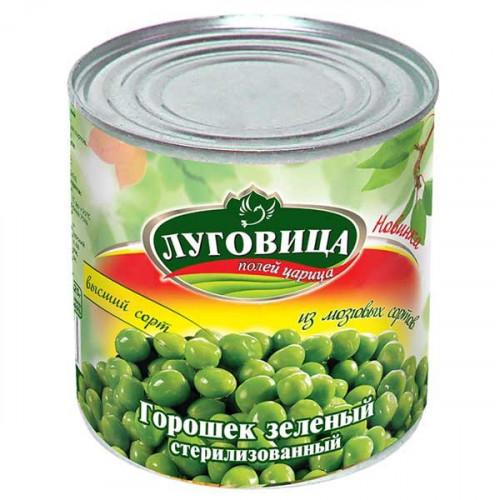 Горошек зеленый консервированный ЛУГОВИЦА 400 гр