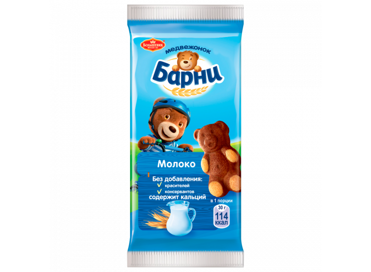 Бисквит МЕДВЕЖОНОК БАРНИ 30 гр