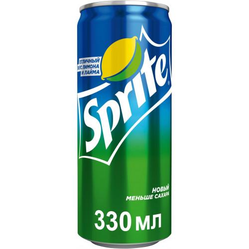 Газированный напиток Sprite со вкусом лайма ж/б 0,33 л