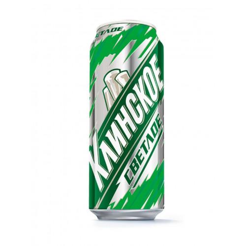 Пиво Клинское светлое пастеризованное 0.45 л