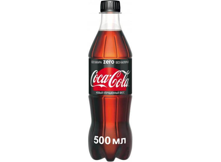 Газированный напиток Coca Cola Zero 0,5 л