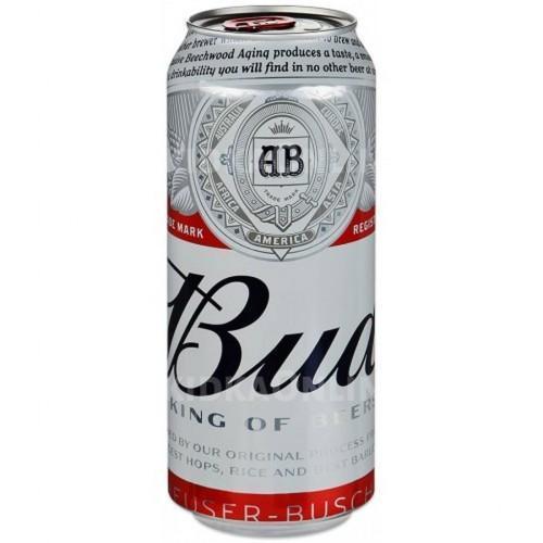 Пиво Bud светлое пастеризованное 5% 0,45 л