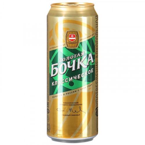 Пиво Золотая Бочка светлое классическое 5.2% 0.45 л
