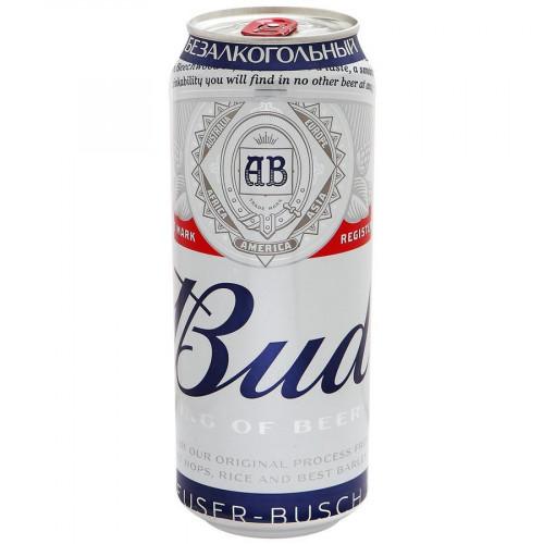 Пиво Bud безалкогольное пастеризованное 0,45 л