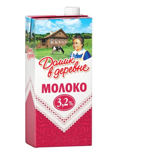Молоко Домик в деревне 3,2% 0,95 л