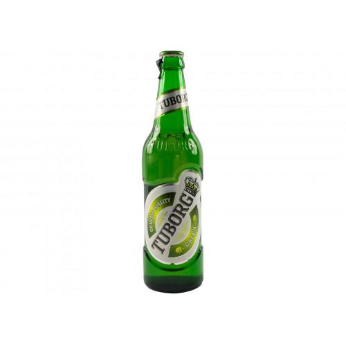 Пиво Tuborg Green Светлое пастеризованное 4,6% стекло  0.48 л