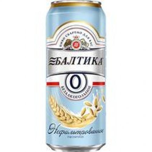 Пиво Балтика №0 Безалкогольное нефильтрованное пшеничное Ж/Б 0,45 л.