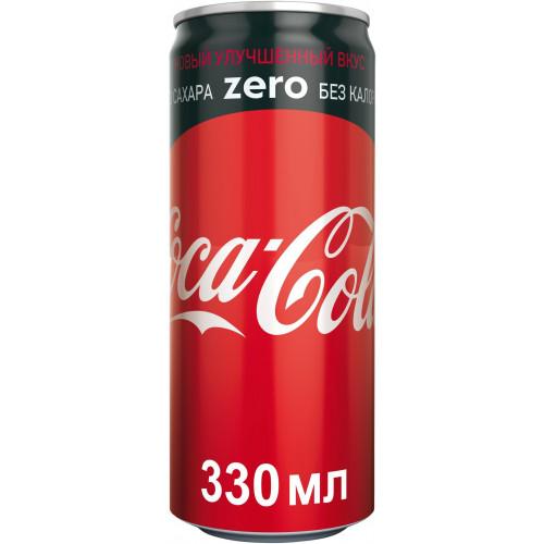 Газированный напиток Coca-Cola Zero 0,33 л