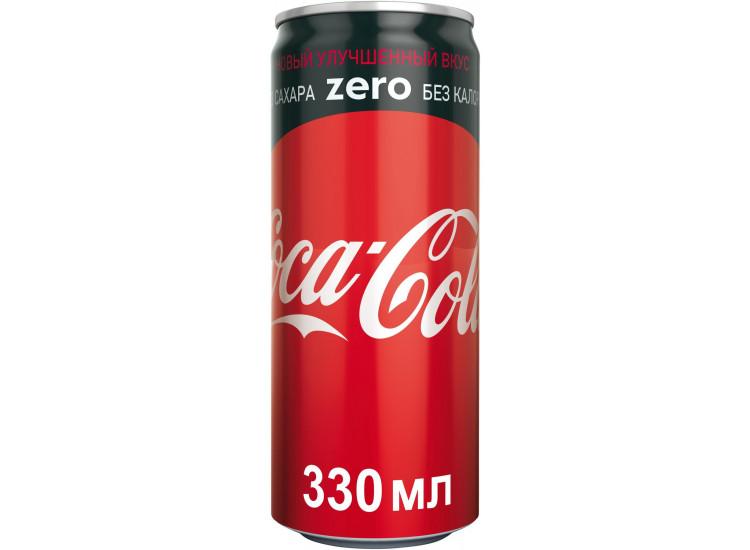 Газированный напиток Coca-Cola Zero 330 мл, ж/б