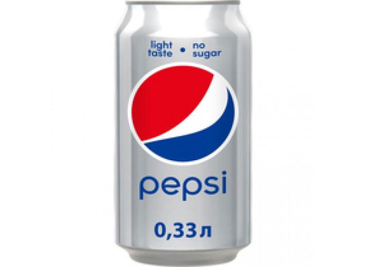 Газированный напиток Pepsi Light Zero 330 мл, ж/б