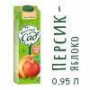 Нектар Фруктовый Сад Персик яблоко с мякотью 0.95 л