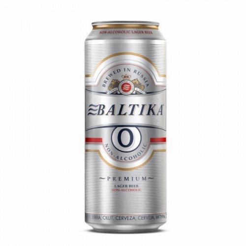 Пиво Балтика №0 Безалкогольное 0% Ж/Б 0,45 л, светлое