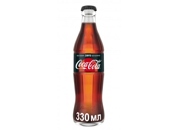Газированный напиток Coca-Cola Zero 330 мл, стекло