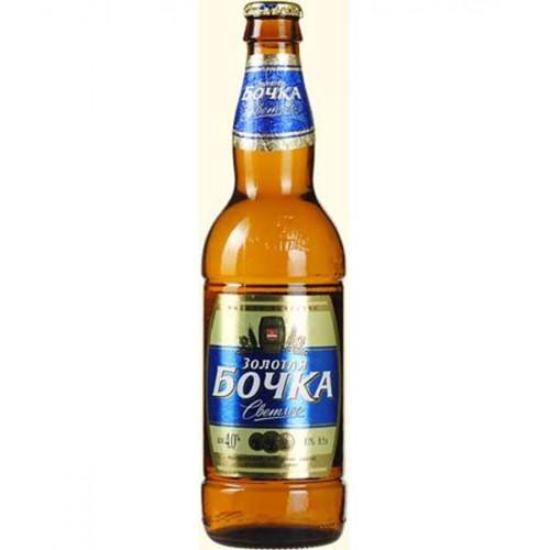 Пиво Золотая бочка классическое светлое 0.45 л