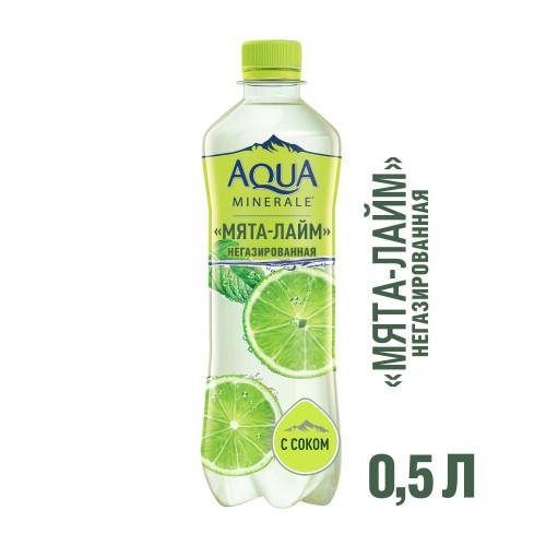 Вода со вкусом Мята Лайм негазированная Aqua Minerale 0,5