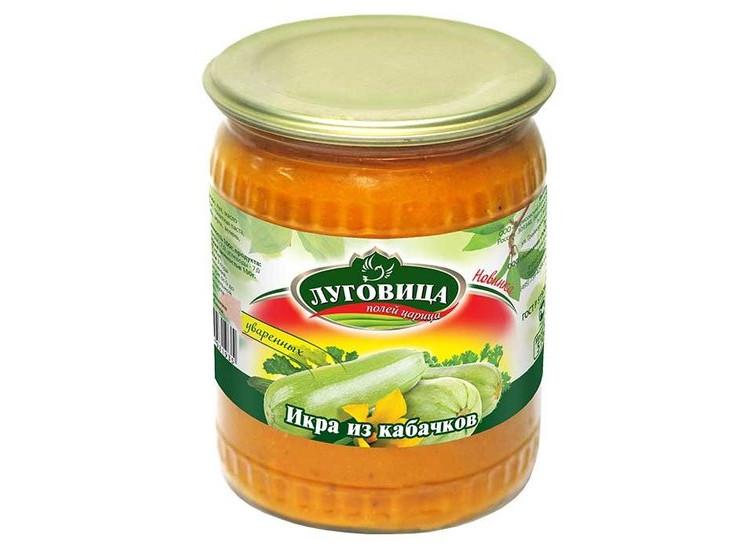 Кабачковая икра ЛУГОВИЦА 510 гр стекло